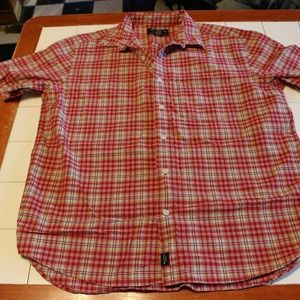 ABERCROMBIE & FITCH MENS SHORT SLEEVE SHIRT SIZE L